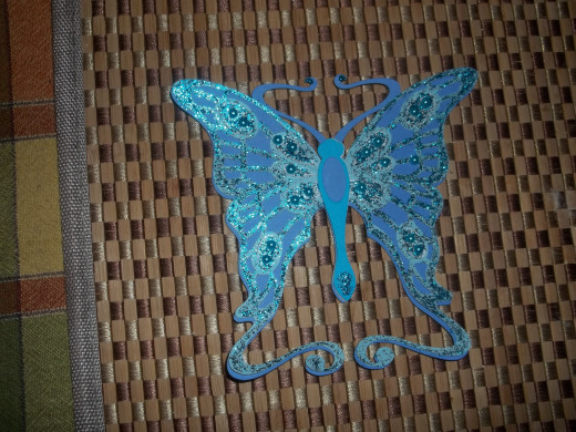 THis butterfly was one of the first cuts that I made with my Cricut Explore