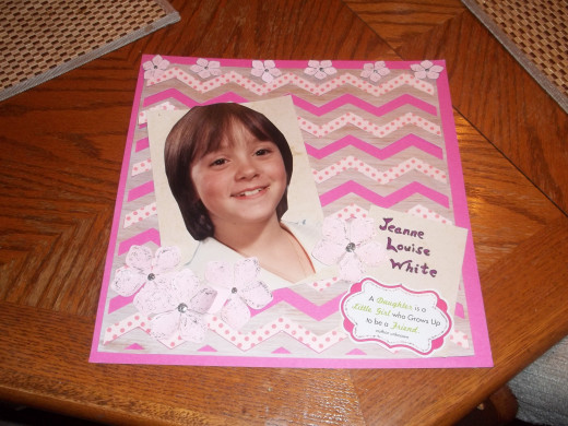 Scrapbook page using the chevron themed scrapbook page