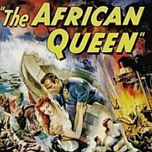 """An original """"African Queen"""" movie poster."""