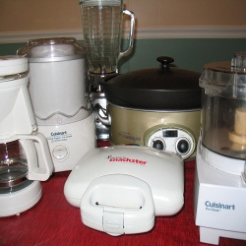 Some of my frequently-used kitchen appliances