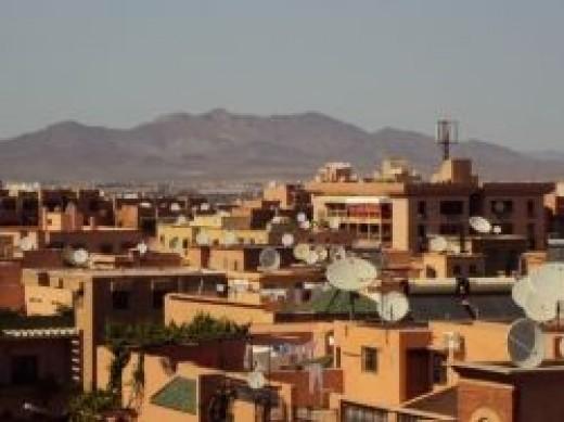 Marrakech rooftop view
