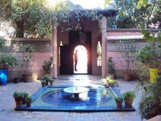 Majorelle garden gate