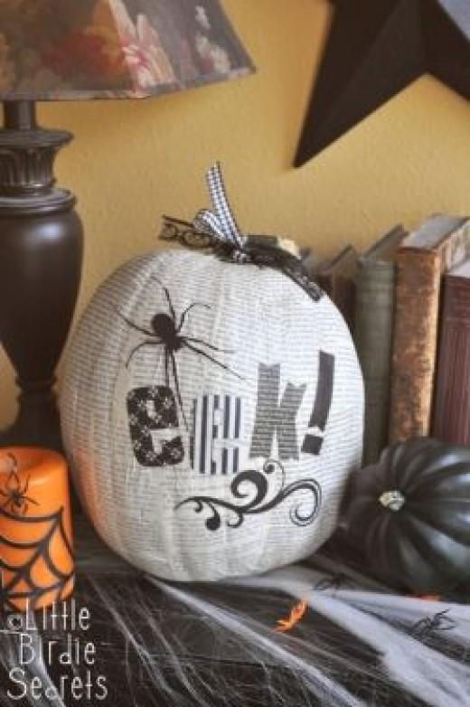 http://www.makeandtakes.com/how-to-decoupage-halloween-pumpkins