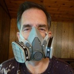 What Every Smart Painter Wears When Using Oil-Based Primer - Image by KateHon