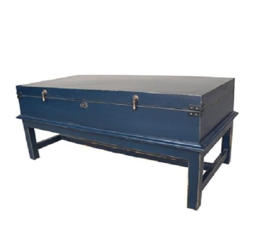 This Americana-inspired 'Indigo Coffee Chest Table' from Bima Trading combines style and storage in one multi-functional piece.  Perfect for stashing games, blankets, DVDs - just about anything you need to have handy but want to store out of sight.