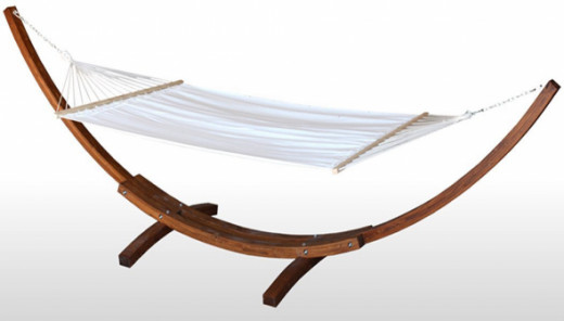 Wooden curved arc hammock