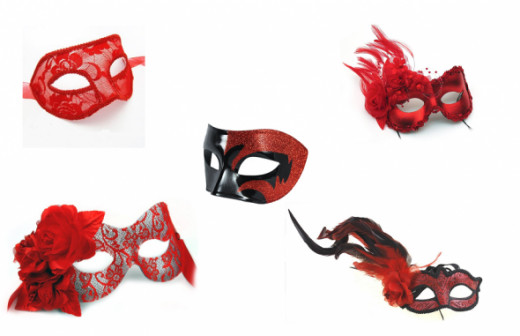 Red Masks for Masquerade