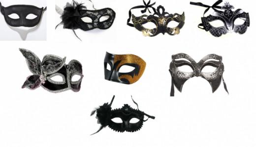 Black masks for Masquerade
