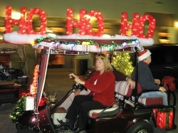 add some red underbody glow lights - Golf Cart Christmas Decorations