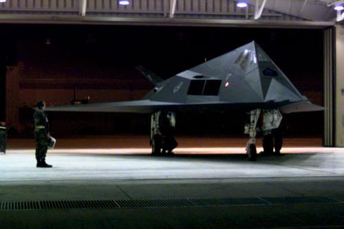 F-117 ground attack