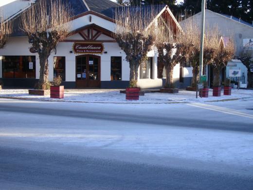Downtown El Calafate in mid winter.
