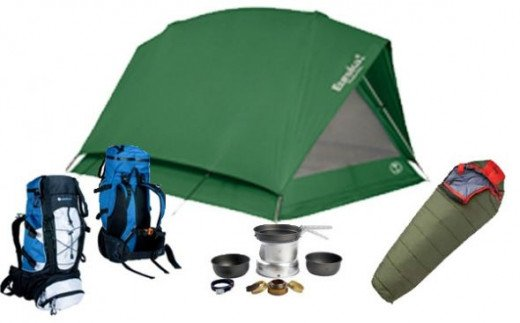 camping equipment shown on JM Cremp's Adventure Store for Boys