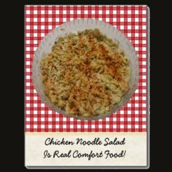 Chicken Noodle Salad Postcard