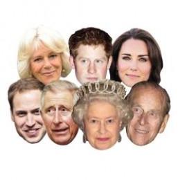 Royal Wedding paper masks