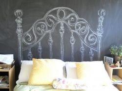 Blackboard and Chalk headboard
