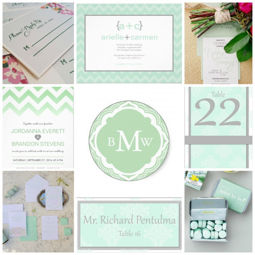 Mint Wedding initations