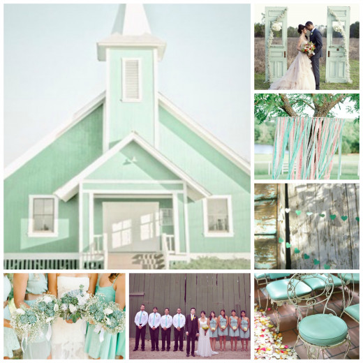 Mint Wedding locations and landscape decor