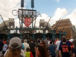 Entrance to Comerica park taken by me July 10, 2013