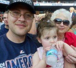 My daughter, mom and me sitting in Sec 139 Row 8
