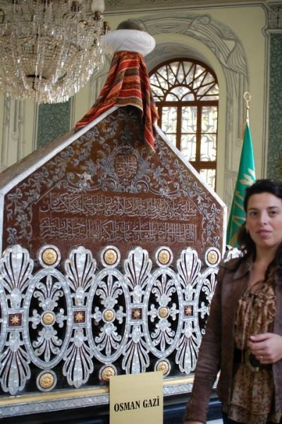 In my visit to city of Bursa.... A picture inside the ornate Tomb of Osman Gazi.