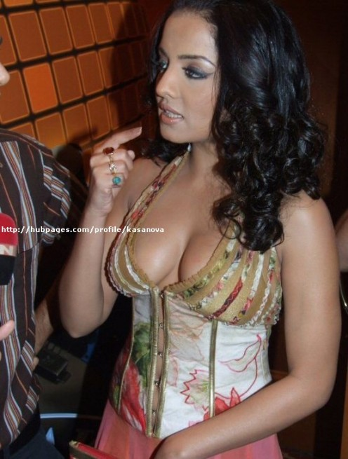 Busty North Indian Aunty Celina Showing off her big cleavage Image 3