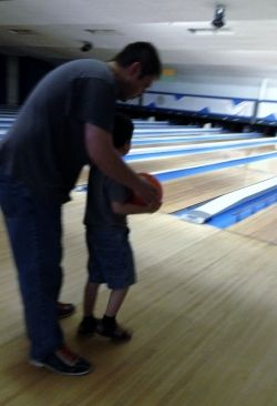 Helping Ryan bowl