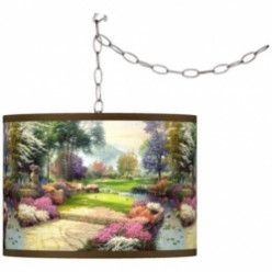 Thomas Kinkade Living Waters Golfer's Paradise Lamps