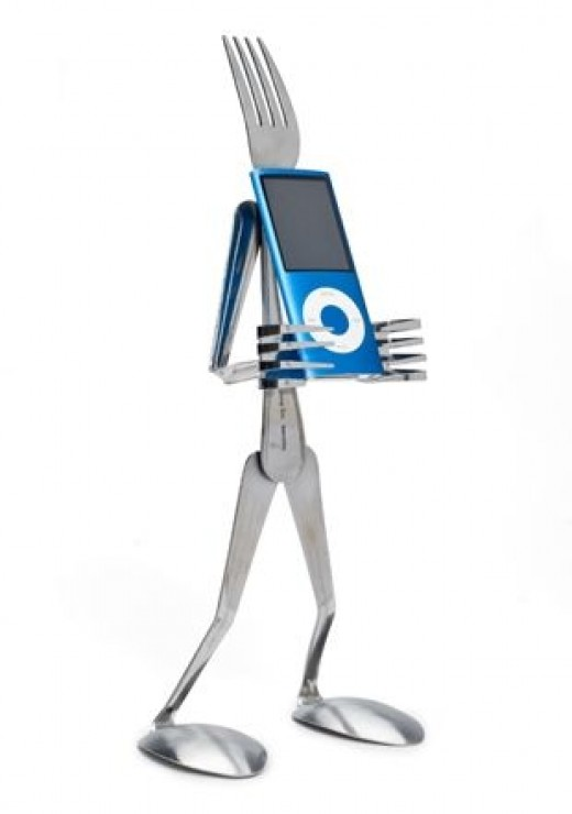 Silverware iPhone or iPod stand