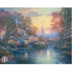 Thomas Kinkade Cottages in Paintings, Figurines & Gifts