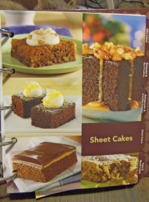 Sheet cakes.