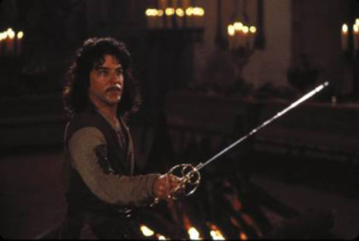 Inigo contronts the six fingered man.