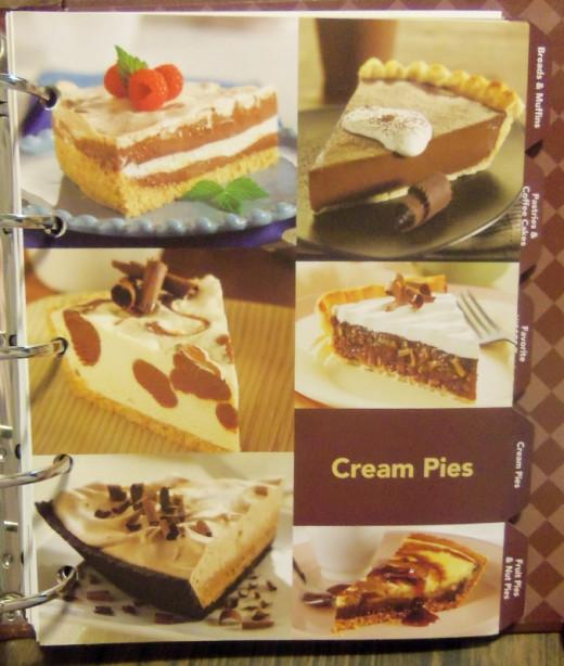 Luscious cream pies.