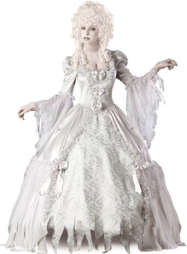 Scare or creep people out with an all-white corpse or ghost costume this Halloween. On the other hand, you can also wow people with your elegant full-length gown. It's all up to you