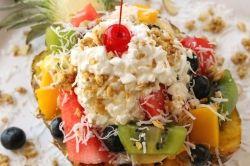 Catamaran Pineapple Salad Boat