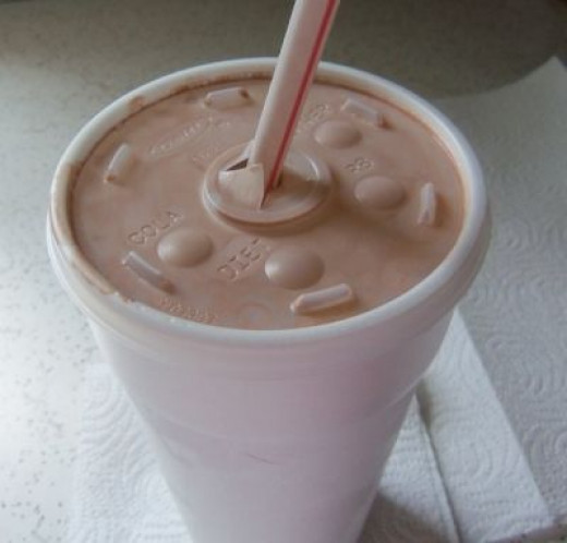 Yep, here it is. My chocolate milkshake. As sweet as the memory! Thanks Mom!