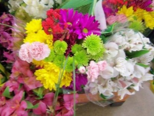 Mini carnations and summer flowers mix?