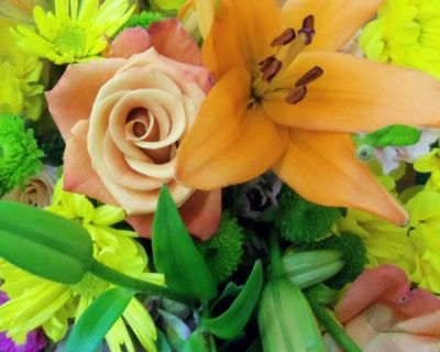 Would you give these for an anniversary? Orange lily, rose and summer mix?