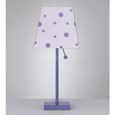 Purple Polka Dot Table Lamp Available on Amazon