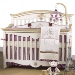 Purple and Gold Crib Bedding Sets