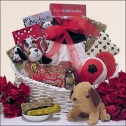 Click here for new puppy gift basket by Amazon