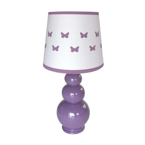 Lamp shade measures 10 inches x 10 inches.  Overall with base measures 19 inches high. Energy efficient 13 watt CFL bulb is included.