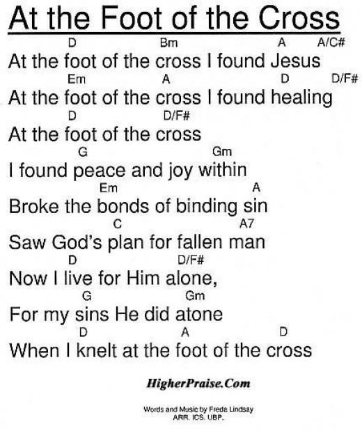Lyrics to At the Foot of the Cross