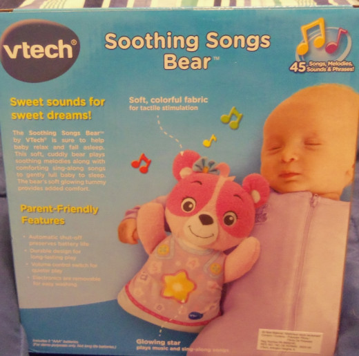 The soothing sounds help a baby or toddler relax so they can fall asleep and it has different settings for sound levels.