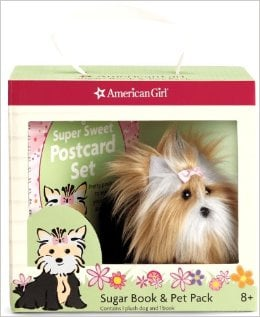 Sugar Pup likes to keep in touch with people with plenty of handmade postcards.