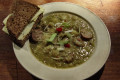 Split Pea Soup with Rookworst - Typical Dutch Wintertime Soup