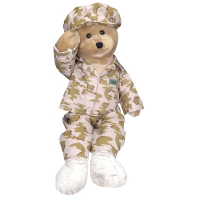 "Chantilly Lane 19"" American GI Hero Bear Sings ""God Bless The USA"""