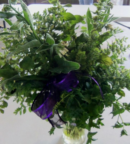 Fresh Herb Bouquet MixRed Ribbon Second Place Winner