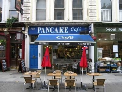 The Pancake Cafe in Camden Town, United Kingdom