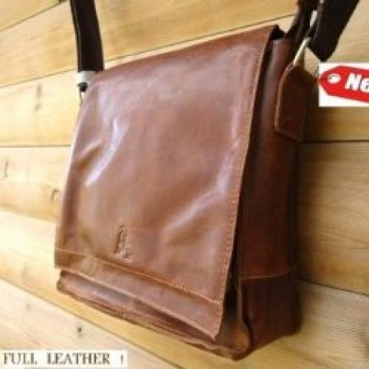Man bags leather