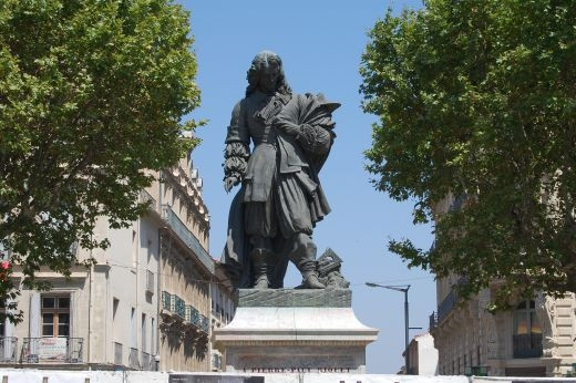 Statue of Pierre-Paul Riquet champion of the Canal du Midi